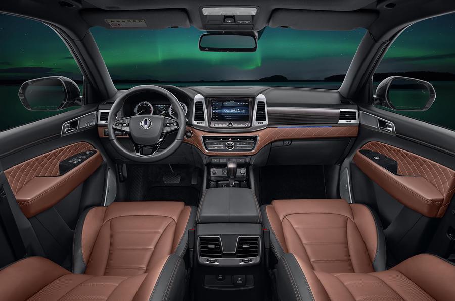 Ssangyong Rexton production model interior