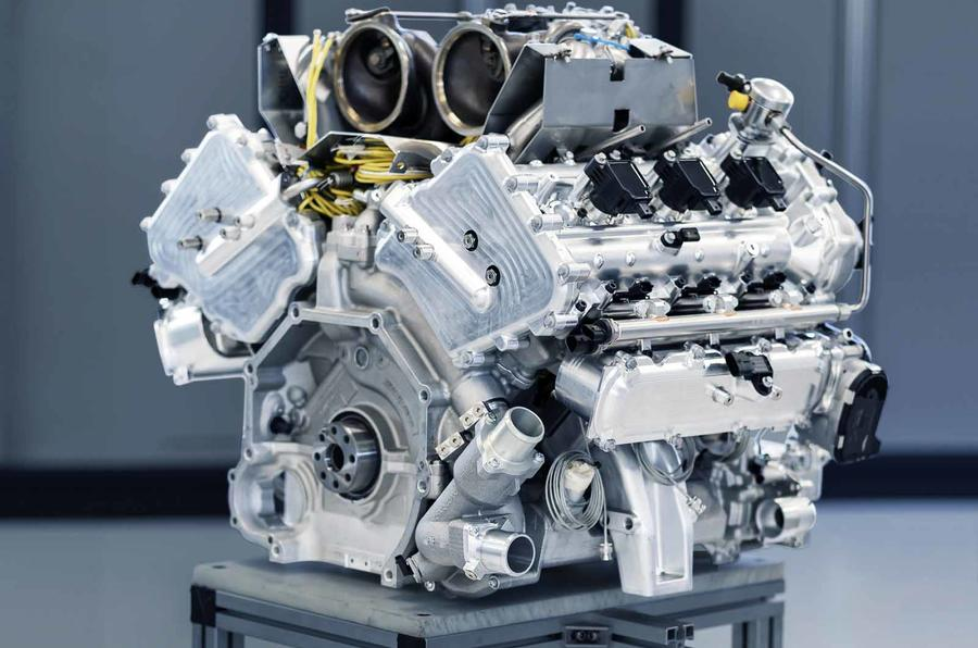 Aston Martin V6 engine angle 2