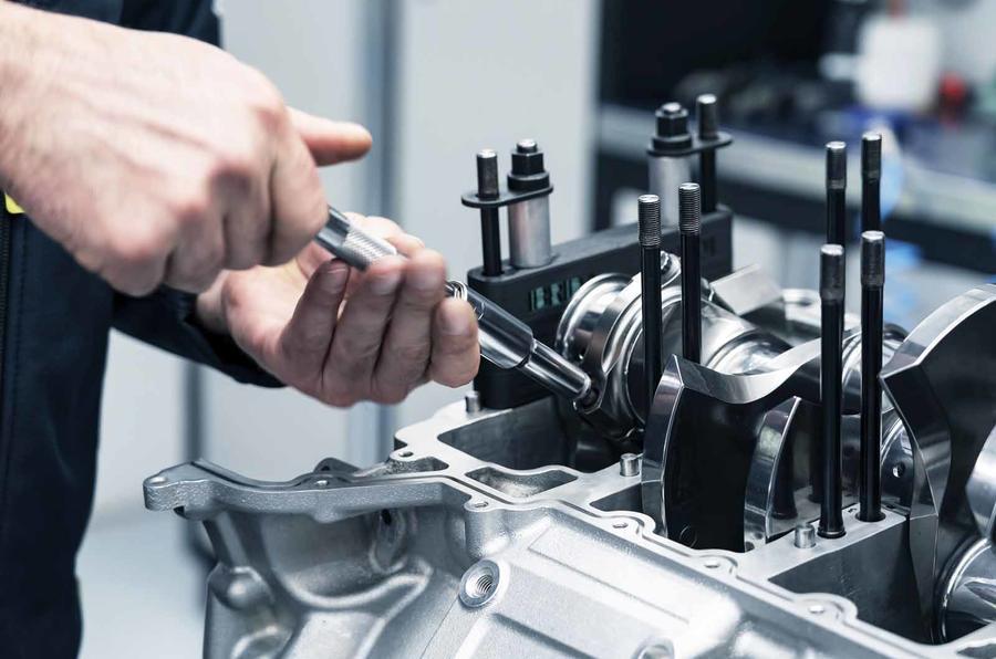 Aston Martin V6 engine production