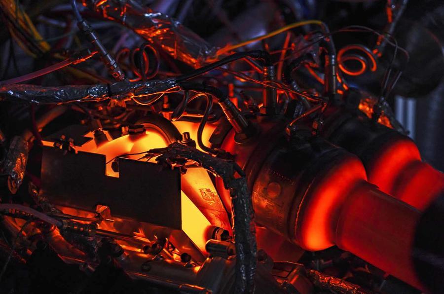 Aston Martin V6 engine heat detail 1