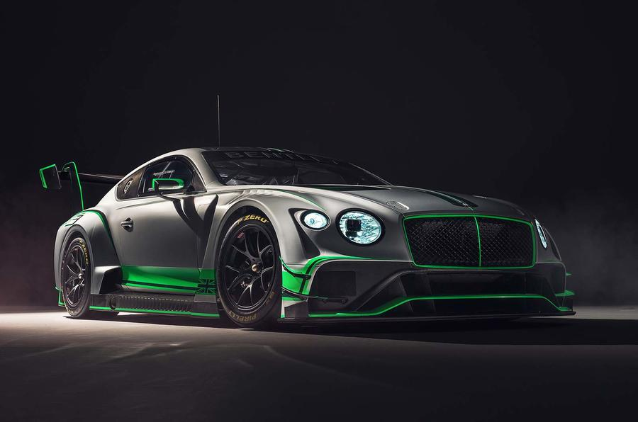 Bentley Continental GT3 race auto unveiled