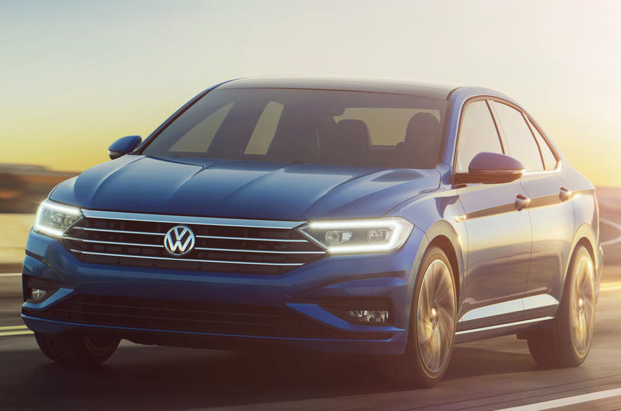 Volkswagen Jetta squares up geometric new look in Detroit