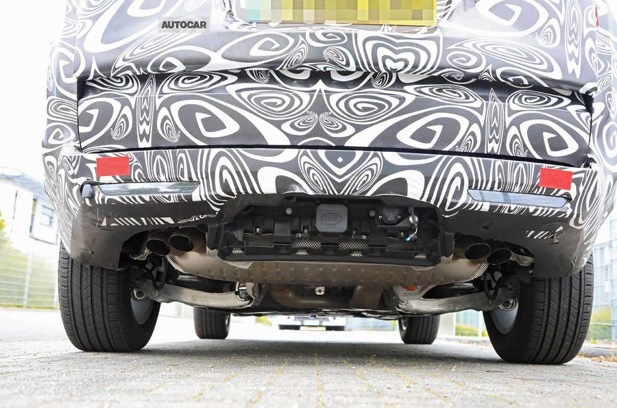New Range Rover spyshot rear close