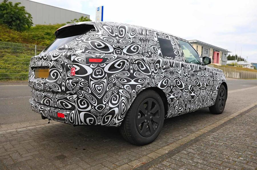 New Range Rover spyshot side rear