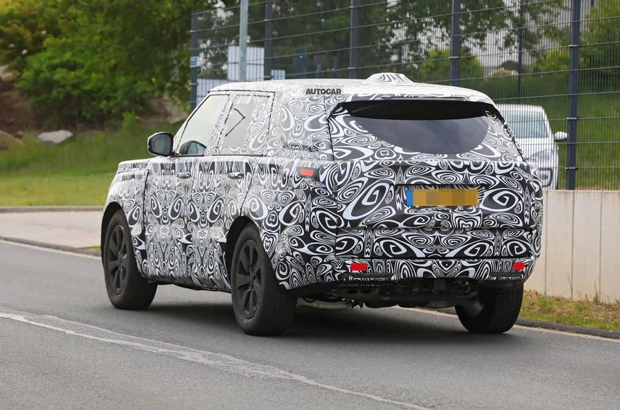 New Range Rover spyshot rear