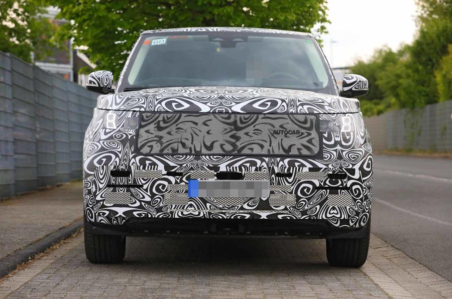 New Range Rover spyshot front dead