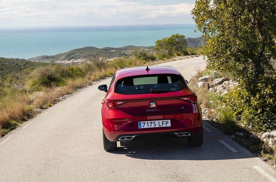 New Seat Leon dynamic shots rear driving