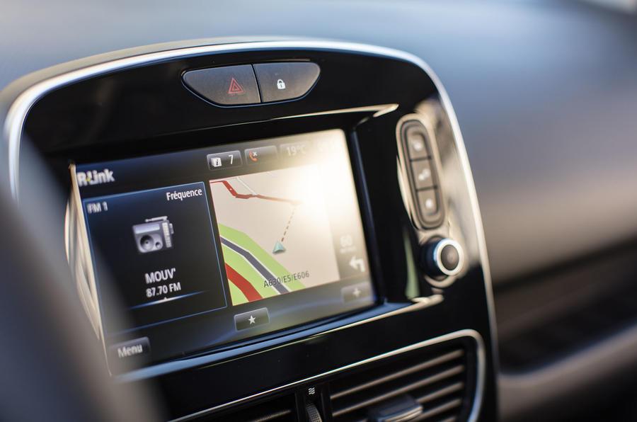 Renault Clio infotainment system