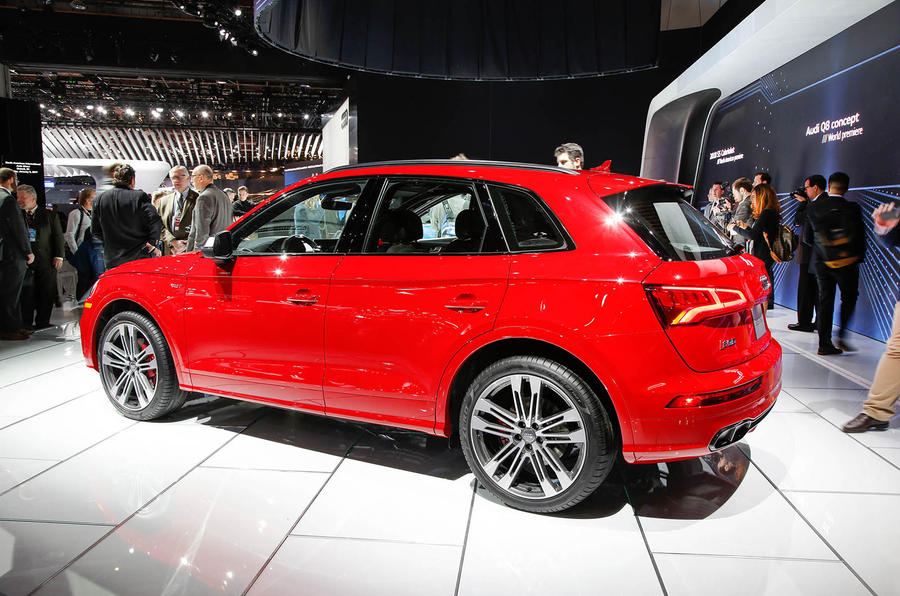 2017 audi sq5 revealed in detroit with 349bhp v6 autocar. Black Bedroom Furniture Sets. Home Design Ideas