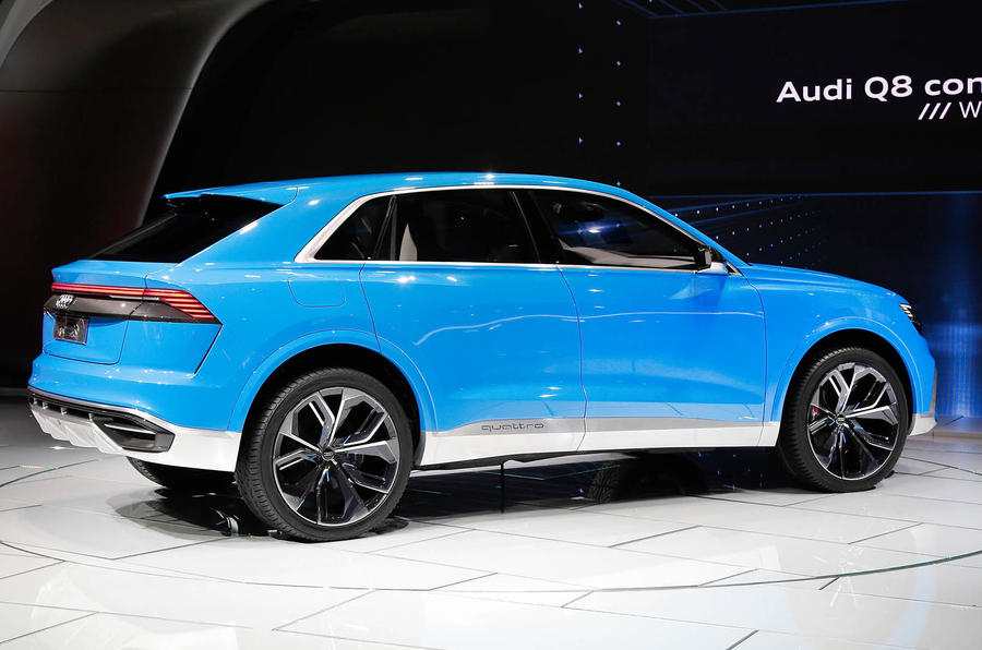 Car Battery Charger Reviews >> Striking Audi Q8 concept previews 2018 flagship model   Autocar