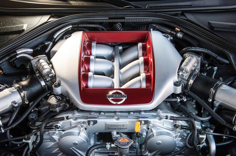 3.8-litre V6 Nissan GT-R engine
