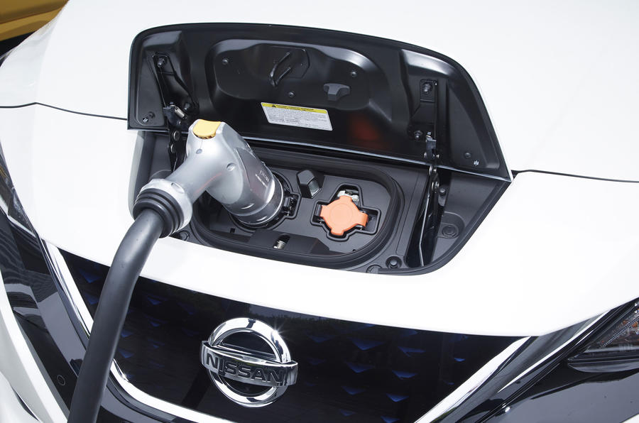 Image result for 2018 nissan leaf charging