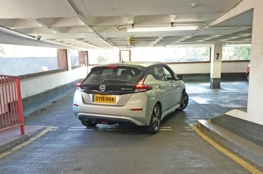 Nissan Leaf 2nd generation (2018) long-term review car park