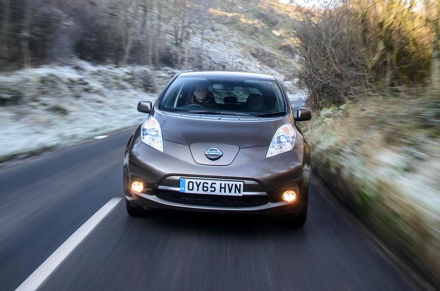 Nissan Leaf can reach 90mph