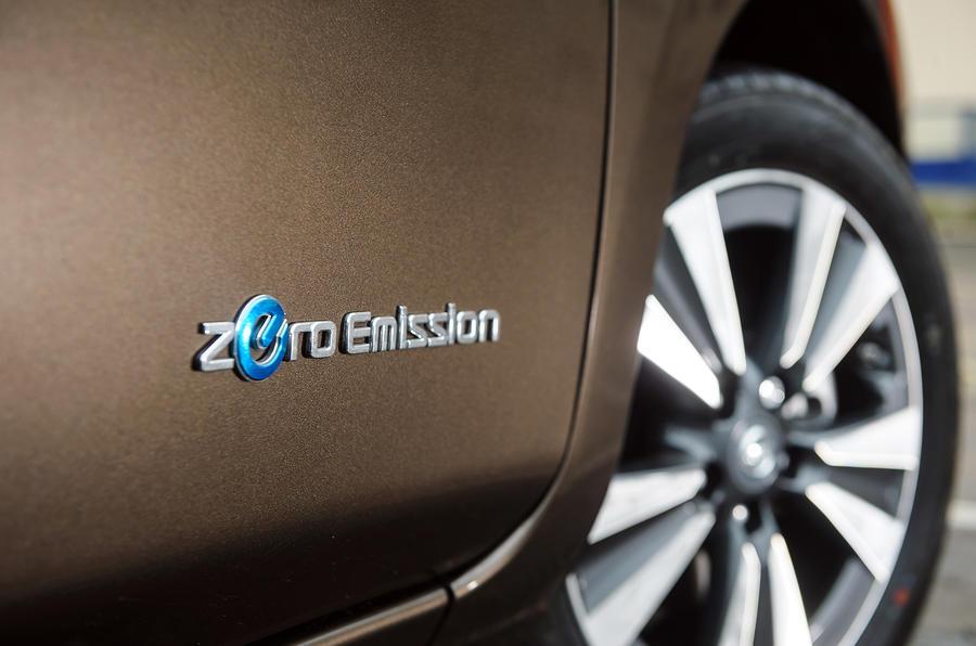 Zero emission Nissan Leaf