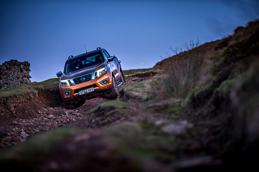 Off-roading in the Nissan Navara