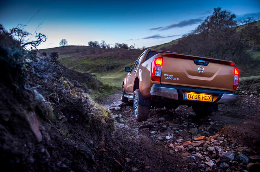Nissan Navara rear off-roading