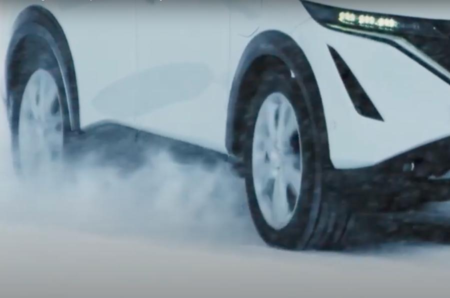 Nissan Ariya teaser side