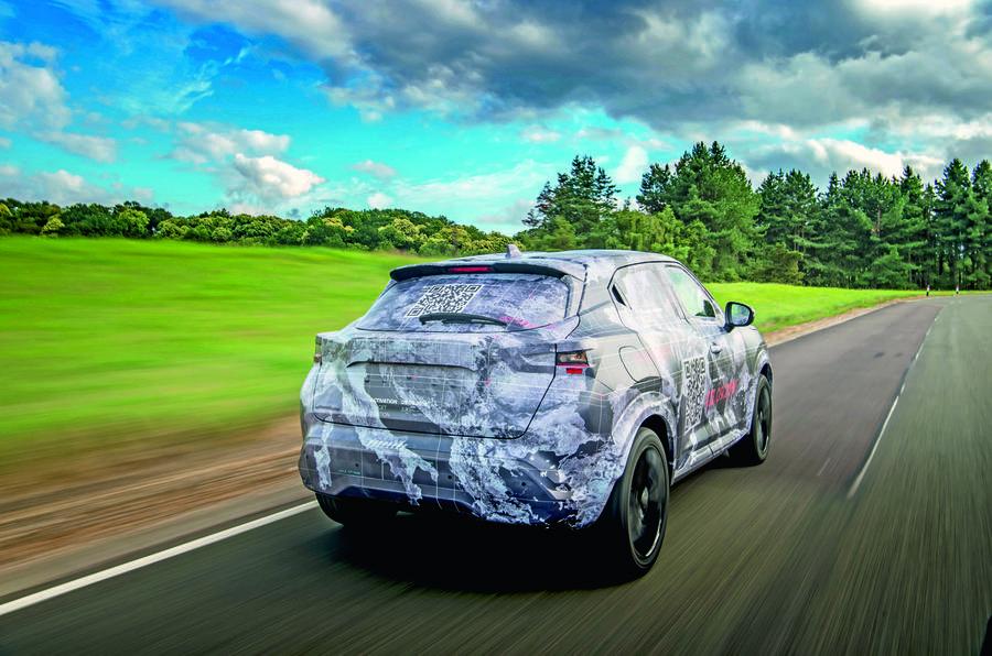 2020 Nissan Juke prototype drive - driving rear