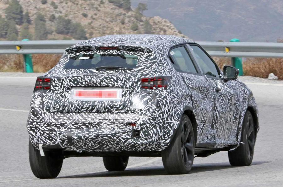 Nissan Juke spyshot rear