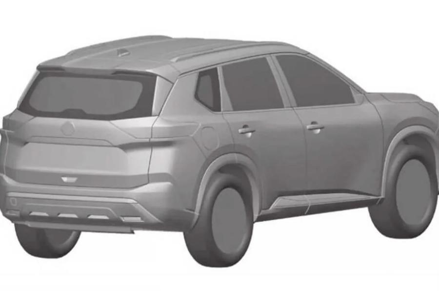 2021 Nissan X-Trail design render - rear