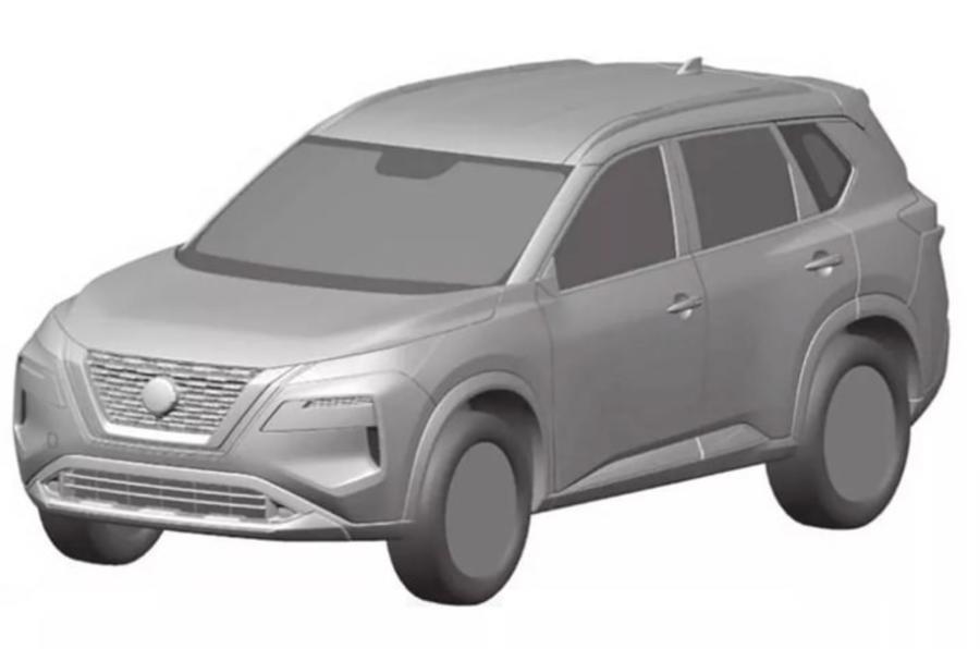 2021 Nissan X-Trail design render - front