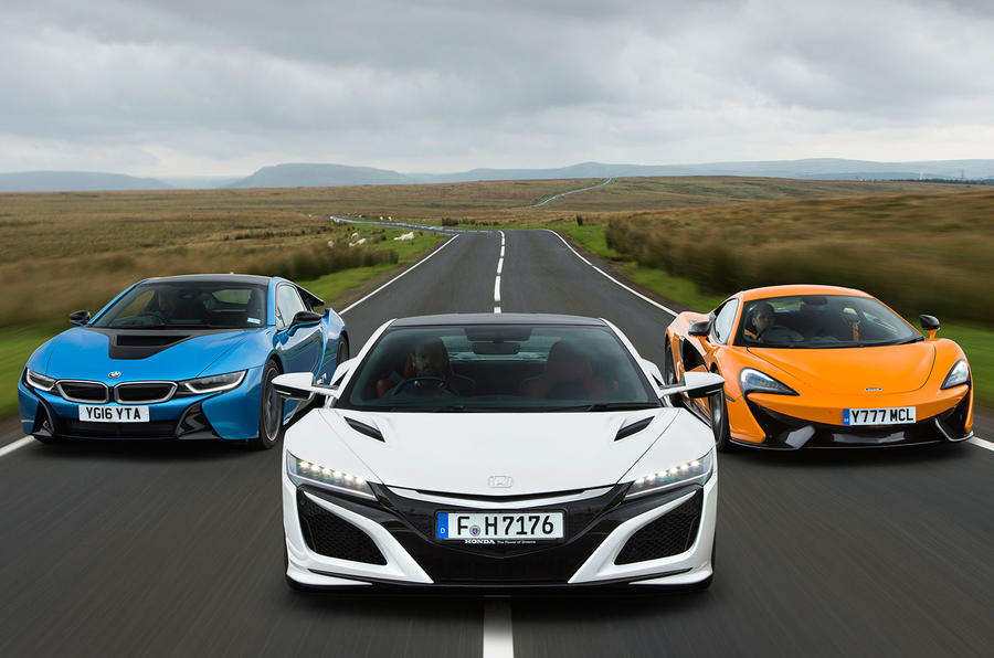 Honda Nsx Vs Bmw I8 Vs Mclaren 570s Supercars Compared Autocar