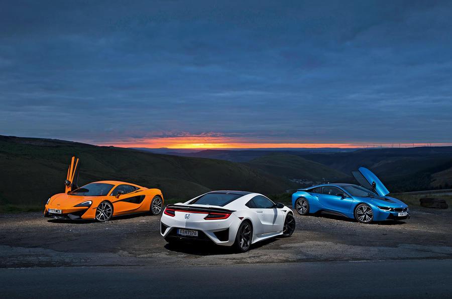 Honda NSX vs BMW i8 vs McLaren 570S: supercars compared ...