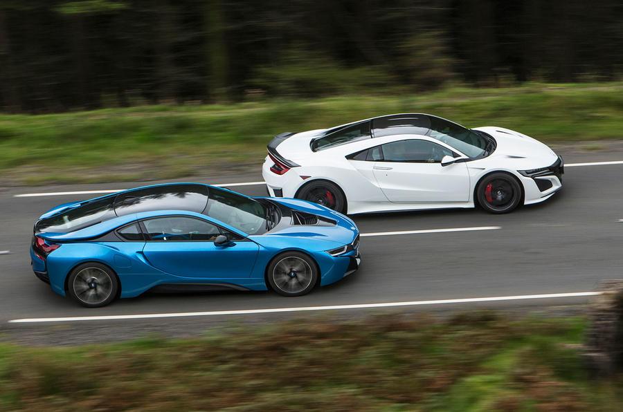 Honda NSX vs BMW i8 vs McLaren 570S: supercars compared