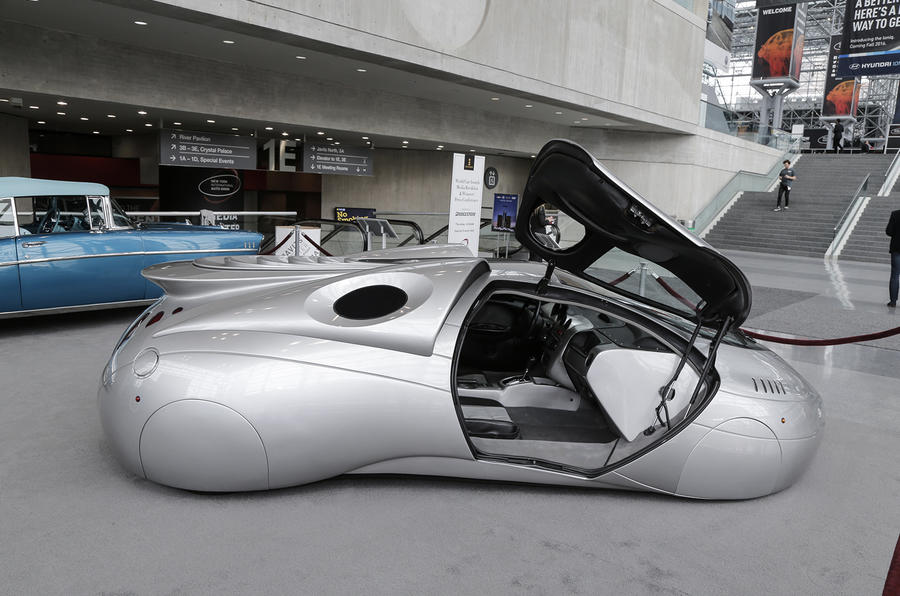 A futuristic concept on display in New York