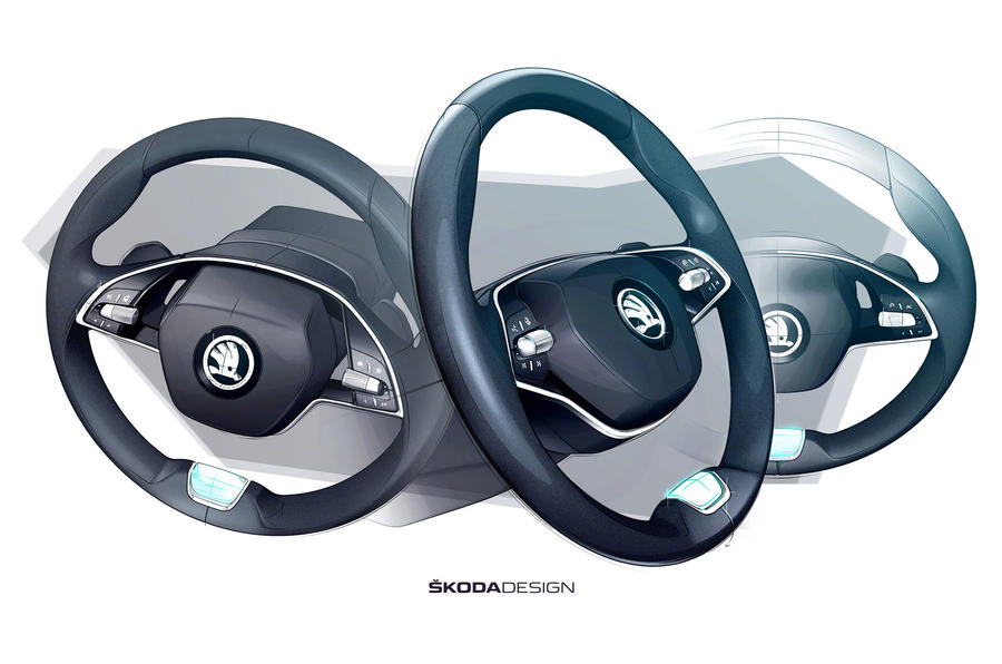 2020 Skoda Octavia - steering wheel sketch