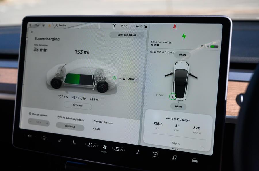 Tesla Model 3 infotainment