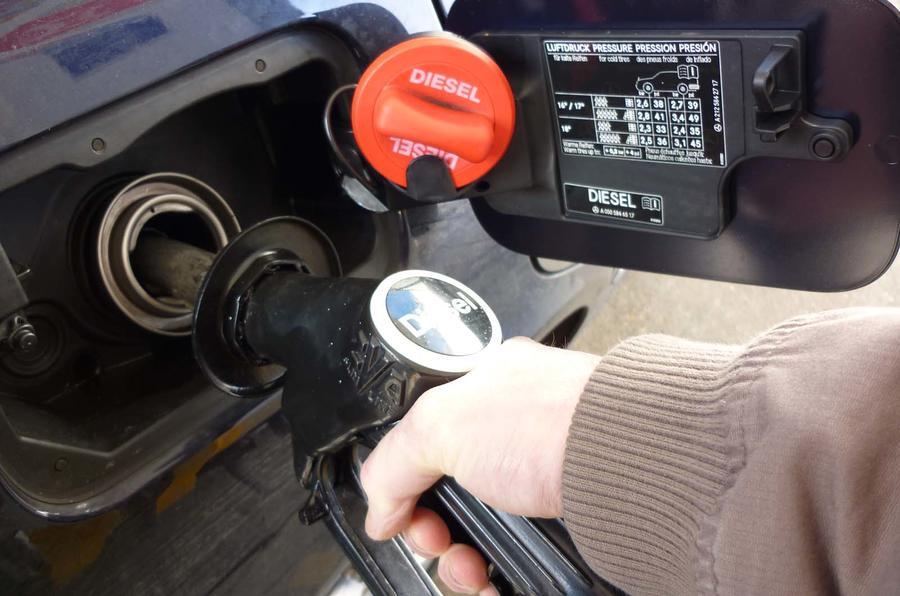 Diesel pump fill-up