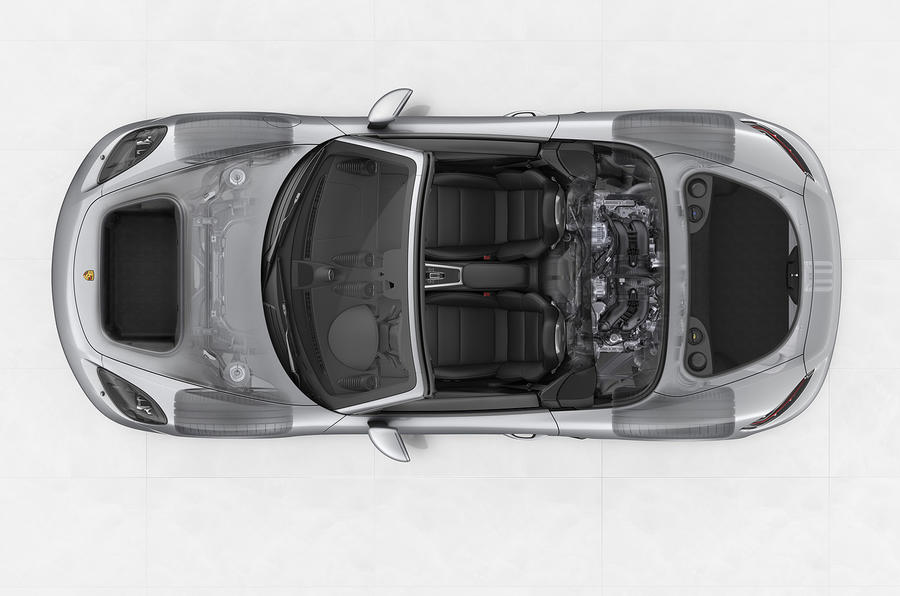 Porsche 718 Boxster chassis structure