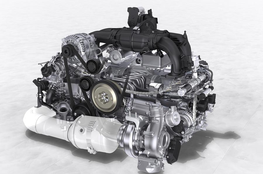 2.5-litre Porsche 718 Boxster engine