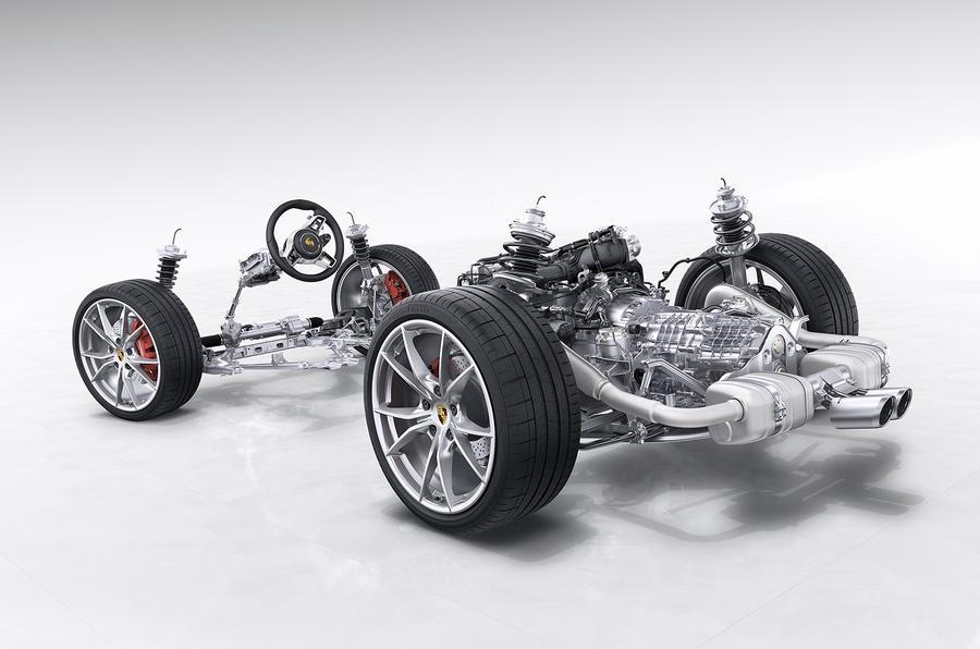 Porsche 718 Boxster powertrain set-up