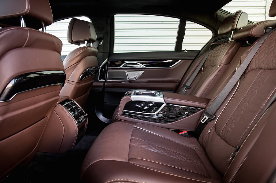 BMW 740Li rear seats