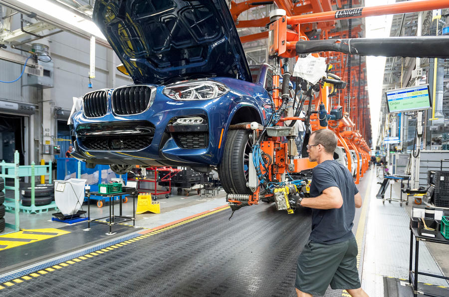 BMW X3 production line
