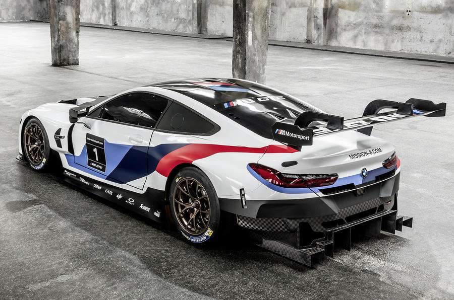 bmw m8 gte 2018 racer offers first glimpse of upcoming 8 series autocar. Black Bedroom Furniture Sets. Home Design Ideas
