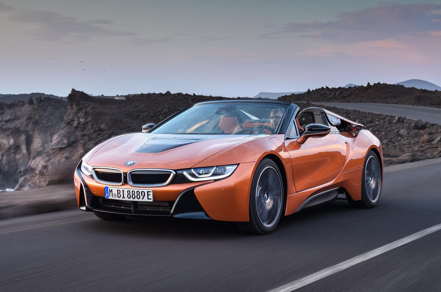 BMW i8 Roadster unveiled alongside Coupe update