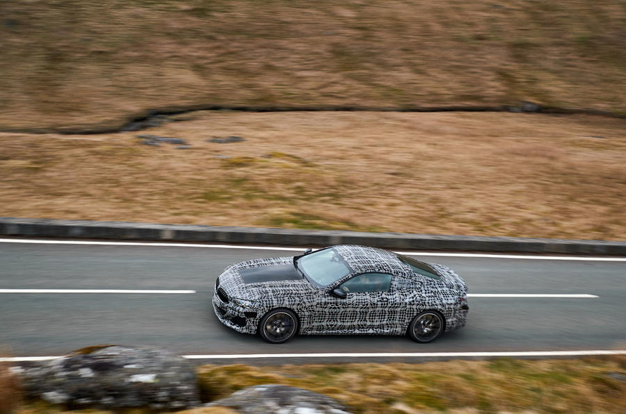 BMW 8 Series: engineers evaluate chassis dynamics on Welsh roads