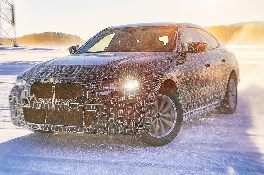 BMW BMW i4 winter testing