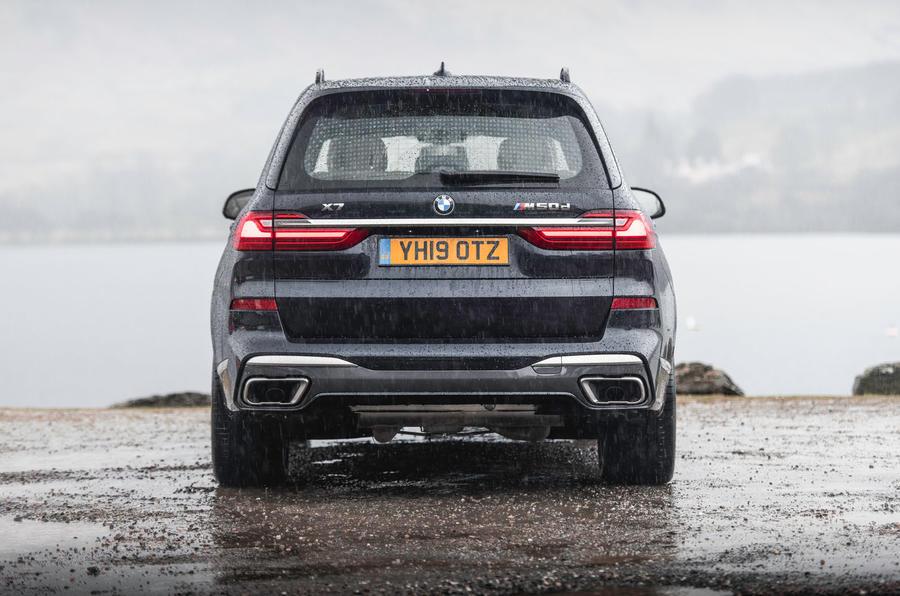 BMW X7 30d M Sport 2019 UK review - static rear