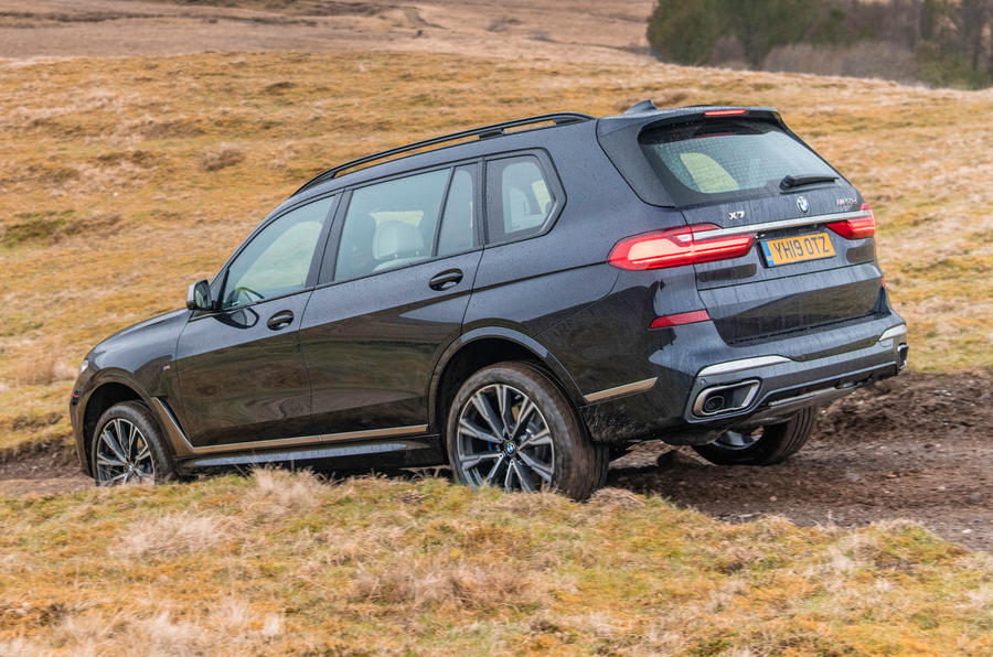 BMW X7 30d M Sport 2019 UK review - hill descent