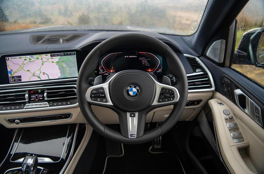 BMW X7 30d M Sport 2019 UK review - steering wheel
