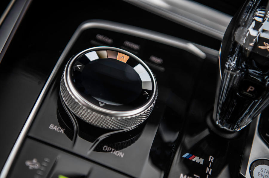 BMW X7 30d M Sport 2019 UK review - iDrive selector