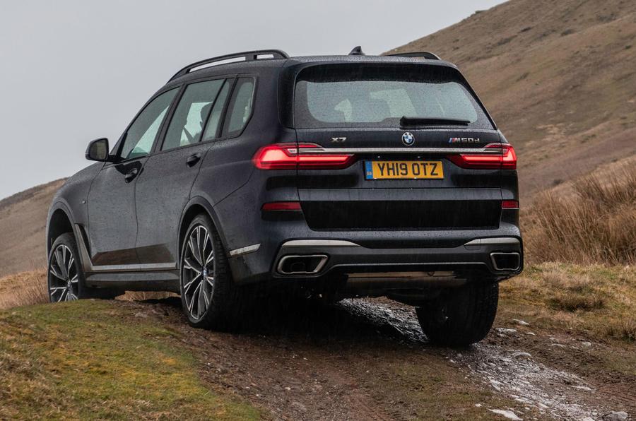 BMW X7 30d M Sport 2019 UK review - rear