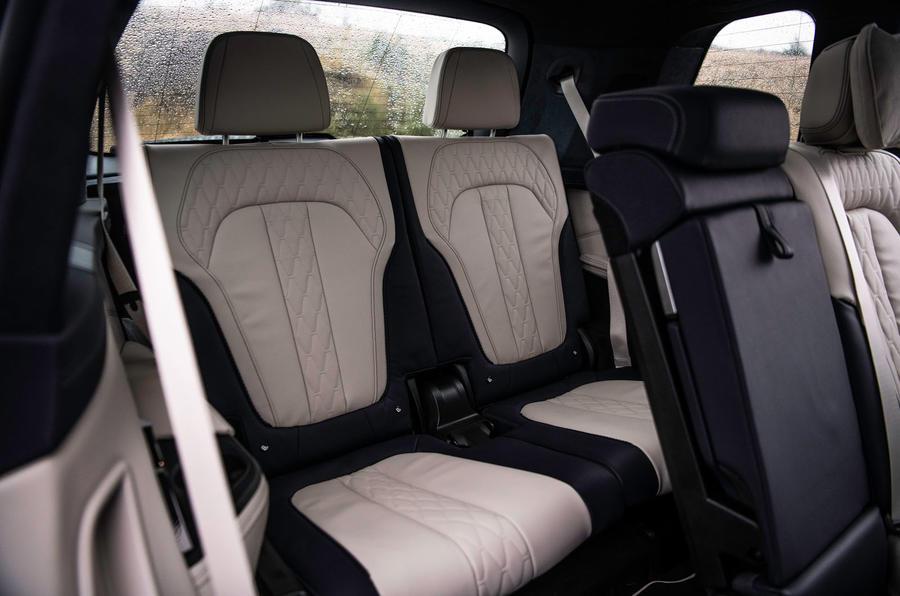 BMW X7 30d M Sport 2019 UK review - rear seats
