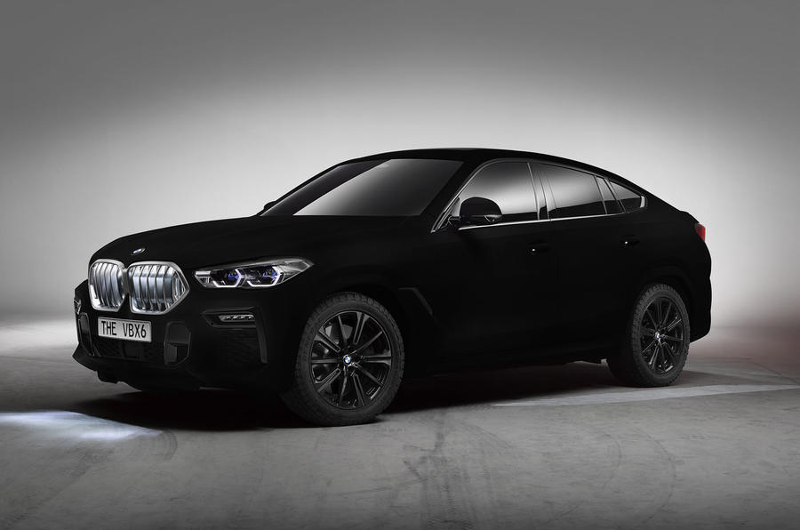 Vantablack paint is so black, this 2020 BMW X6 looks two-dimensional