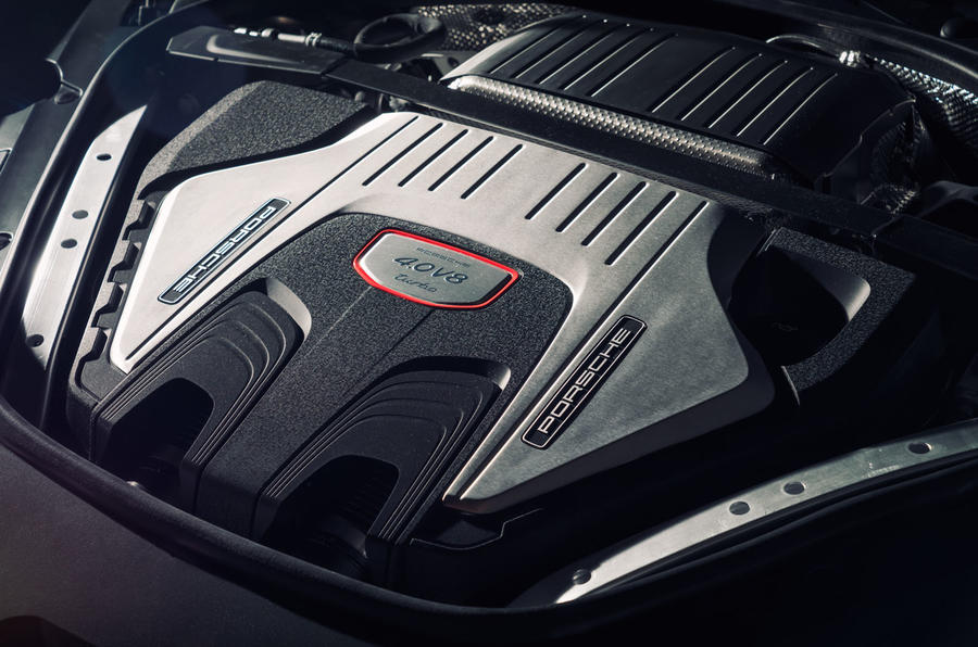 Porsche Panamera Turbo engine bay